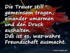 Bilder mit Trauersprüchen – Die Trauer still ...