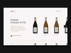 Fournier : Wines designed by Richard G. Layout Site, Catalogue Layout, Ecommerce Web Design, Wine Design, Catalog Design, Website Design Inspiration, Interactive Design, Presentation Design, Editorial Design