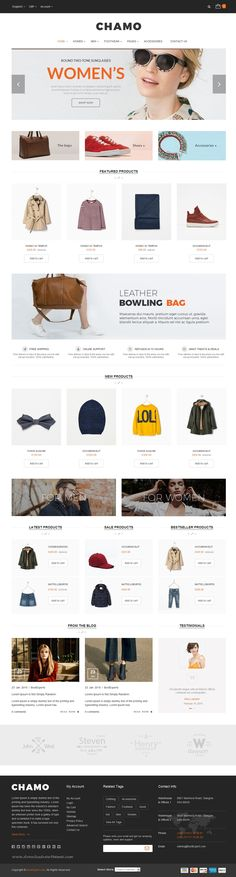 Chamo is a clean and elegant design #eCommerce Bootstrap #Template suitable for multipurpose online #website. It has 6 defined layouts for home page to give you best selections in customization.