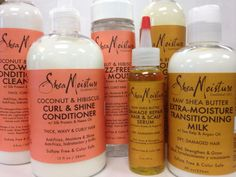 Shea Moisture released some new products!  Looking forward to trying the ones in the Coconut & Hibiscus line!  #curlygirlmethod #naturalhair