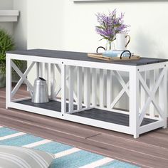 One Allium Way Morgane Solid Wood Cubby Storage Bench Storage Bench With Cushion, Wood Storage Bench, Cubby Storage, Upholstered Storage Bench, Upholstered Dining Chairs, Painting Wooden Furniture, Bench Furniture, Home Furniture, Rustic Furniture