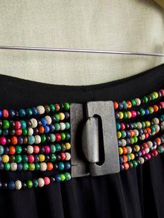 Bohemian Ladies Wooden Beaded Belt