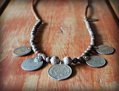 Tribal Middle Eastern Coin Pendant Necklace by sweetfreedomshop