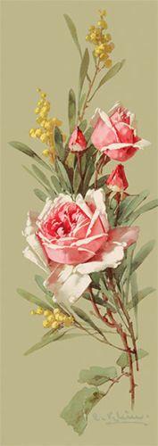 Roses-amp-Wildflowers-by-Catherine-Klein-Art-Print-of-Vintage-Art