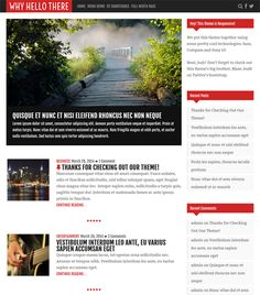 This free flat WordPress theme has a responsive layout, Font Awesome icons, a featured content slider, HTML5 and CSS3 code, and more.