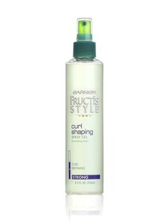 Garnier Fructis Curl Shaping Spray Gel... Drives me nuts too, wish I didn't depend on this product so much.