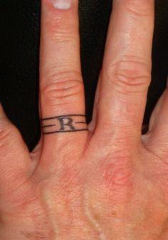 Ring Tattoo For Men.