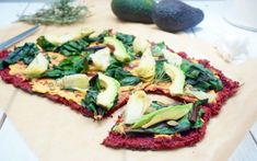 This brightly colored, crispy flatbread is made from beets, oat flour, and sunflower seeds, and bakes beautifully in the oven.