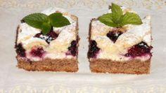 Fotorecept:Dvojfarebný tvarohový koláč s černicami Cheesecake, Desserts, Food, Basket, Kuchen, Tailgate Desserts, Deserts, Cheesecakes, Essen
