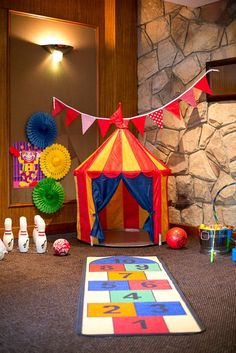 "Photo 3 of 36: Circus/Carnival / Birthday ""Roll Up Roll Up Circus Carnival Party by Tiny Tots Toy Hire"" 