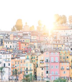 The sun setting in the French Riviera.