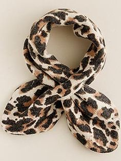 Affordable: Add the purr-fect polish to your Mini Me's outfit with Crew Cuts' easy-to-wear Leopard Pull-Through Scarf ($42.50).