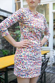 liberty bunting dress made by Raystitch