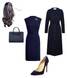"""Work"" by cgraham1 on Polyvore featuring Ralph Lauren, Christian Louboutin, Harris Wharf London, Mansur Gavriel and EWA"