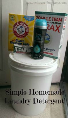 make your own laundry detergent using a 5 gal bucket.... it's pretty amazing! And works great. My only problem with it might be the stink if it sits too long but then again i REALLY need to wash my washing machine drum so that might be the problem too...