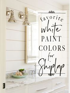 Paint Colors: 5 Favorites for Shiplap White paint colors can be tricky. Sharing the BEST white paint to use when painting shiplap.White paint colors can be tricky. Sharing the BEST white paint to use when painting shiplap. Wall Paint Colors, Bedroom Paint Colors, Interior Paint Colors, Paint Colors For Home, Interior Painting, Off White Paint Colors, China White Paint, Garage Paint Colors, Fixer Upper Paint Colors