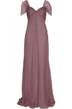 Alberta Ferretti Silk-chiffon gown