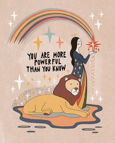 You are more powerful than you know Mini Art Print by Asja Boros - Without Stand. Citations Yoga, Psy Art, Happy Words, Pretty Words, Journal Pages, Positive Affirmations, Drawing People, Positive Vibes, Positive Art