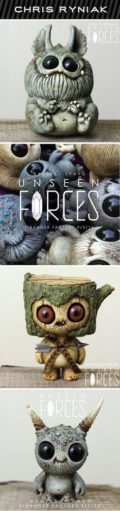 Unseen Forces Art opening tonight. #chrisryniak #creatures #art