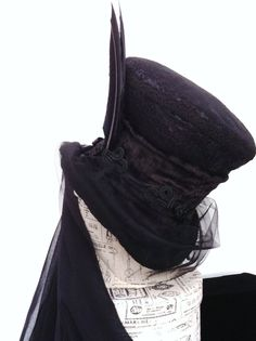 Gothic Victorian black mourning hat mad hatter by Blackpin on Etsy https://www.etsy.com/listing/122336680/gothic-victorian-black-mourning-hat-mad