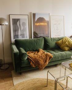 Home Living Room, Living Room Decor, Bedroom Decor, Living Room Green, Living Room Designs, Wall Decor, Room Interior, Home Interior Design, Muebles Living