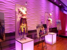 Sweet 16 fashion glamour vogue theme party - decor lighting dress forms pictures at Lombardos by The Prop Factory, via Flickr #sweet16 #fashiontheme
