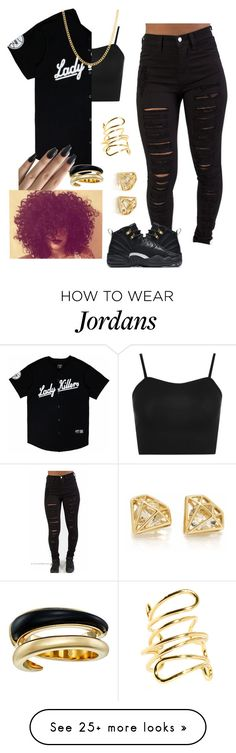 """Black Beatles~Rae Sremmurd"" by queen-sugah900 on Polyvore featuring WearAll, Sterling Essentials, Michael Kors, NIKE and Pieces"