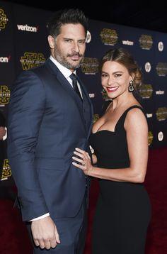 Joe Manganiello and Sofia Vergara at Star Wars: The Force Awakens Premiere. [Photo: Buckner/Variety/REX/Shutterstock]