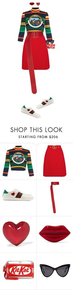 """SWEET CAROLINE"" by takenuser ❤ liked on Polyvore featuring Tata Naka, Gucci, Giuseppe di Morabito, Alison Lou, Anya Hindmarch and STELLA McCARTNEY"
