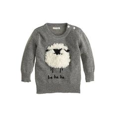 Crew for the Baby fuzzy sheep sweater for Women. Find the best selection of Women Baby & Toddler Clothing available in-stores and online. Baby Outfits, Kids Outfits, Knitting For Kids, Baby Knitting, Baby Pullover, Crew Clothing, Baby Sweaters, Kind Mode, Future Baby