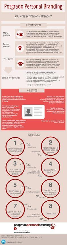 infografía de posgrado en marca personal