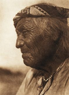 A Tesuque ancient (The North American Indian, v. XVII. Norwood, MA, The Plimpton Press,  1926) by Edward Sheriff Curtis from University of Southern California Libraries