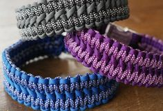 Nosu Twins Wide Paracord Dog Collar Multicolour Dog Collar
