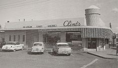 Clints Ice Cream. They had a lot of weird flavors. Bubble Gum ice cream with a dangerous choice. Blue ice cream crammed full of frozen gum balls. There was a high risk of choking on the gum balls with eating the ice cream. It was not a very fun flavor. After it closed, the new owners turned the place into a french restaurant. They were not able to remove the giant concrete ice cream cone on the roof, so they painted it to look like a cartoon chef.
