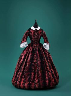 Day dress, 1850's From the collection of Alexandre...