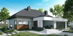 Discover recipes, home ideas, style inspiration and other ideas to try. Modern Bungalow House Plans, Modern Bungalow Exterior, Modern House Facades, Modern House Design, Village House Design, Village Houses, Three Bedroom House Plan, Beautiful House Plans, Facade House