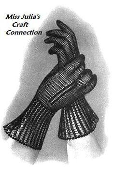 Vintage 1935 Monte Carlo Lace Gloves 390 by OriginalsByMissJulia, $3.00