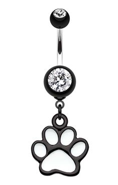 Paw Print Belly Button Ring  #BellyRing #Paw #PawPrint