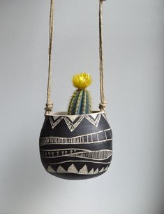T R I B A L : ceramic hanging planter