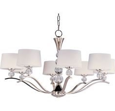 Sale Maxim Lighting Rondo Single-Tier Chandelier in Polished Nickel from the Original Bowery Lights. Shop our large Maxim Lighting collection and save on Maxim Lighting Rondo Single-Tier Chandelier in Polished Nickel. Chandelier Design, Drum Shade Chandelier, Chandelier Bedroom, Chandelier Lighting, Maxim Lighting, Home Lighting, Lighting Ideas, Utah, Candelabra Bulbs