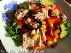 Salata mexicana cu avocado si ton Cooking Recipes, Healthy Recipes, Healthy Food, Salad Dressing, Cobb Salad, Asparagus, Salads, Avocado, Good Food