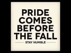 Pride is part of human nature, is a very dangerous sin, and has practically wrecked the human race.…