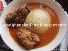 Yam Fufu with Fresh Fish Soup