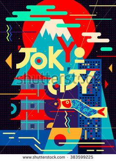 Tokyo Poster featuring the painting Tokyo City, Japan, Vintage Travel Poster by Long Shot. An impressive arty design. AM Tokyo Poster featuring the painting Tokyo City, Japan, Vintage Travel Poster by Long Shot. An impressive arty design. Japan Illustration, Illustration Design Graphique, Graphic Illustration, Japan Design, Tokyo Design, Poster Sport, City Poster, Poster Poster, Poster Retro