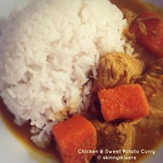 Skinnymixer's Chicken & Sweet Potato Curry - recommended by Kerri Burke Curry Recipes, Paleo Recipes, Dinner Recipes, Cooking Recipes, Savoury Recipes, Dinner Ideas, Chicken Sweet Potato Curry, Curry Ingredients, Fruit And Veg