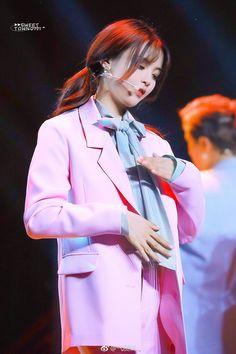 Red Leather, Leather Jacket, Produce 101, Chinese, Celebrities, Jackets, Fashion, Korean Idols, Studded Leather Jacket