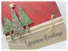 Really cool designs for cards on this website using rubber stamps! colleendietrichdesigns.com