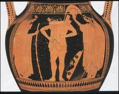 Attic red figure belly amphora (type A) attributed the Euthymides Painter (ca. 520-505 BC)
