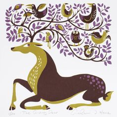 The Giving Deer - hand printed silk screen