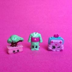 The Shopkins have cute names like Boni Bonsai and Yoko Kimono.
